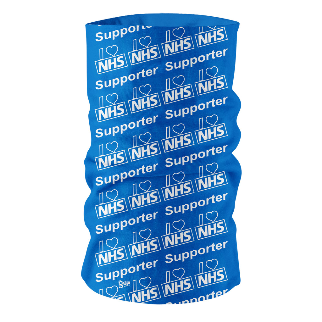5 Pack Of  I Love Our Health Service  Multi-functional Headgear bandana snood face protection