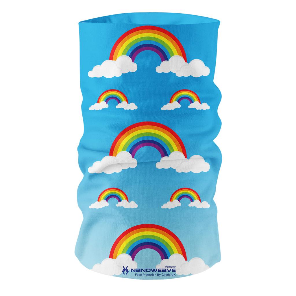 Nano Weave Rainbow Multi-functional face protection. Seamless Tube Bandana