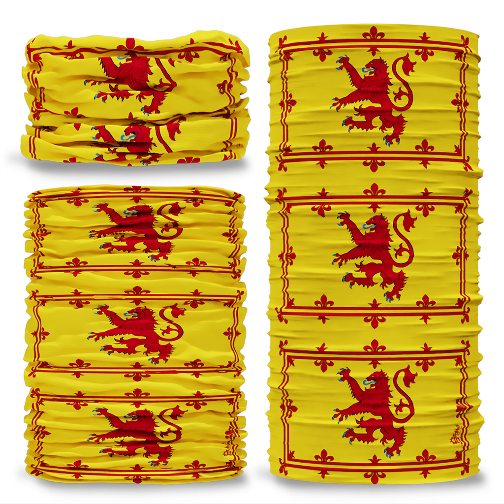 G-716 Lion Rampant of Scotland Flag Seamless Tube Bandana Snood Multifunctional multiwrap Giraffe headwear