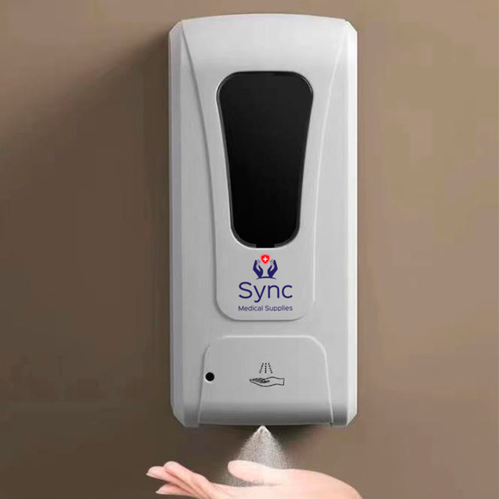 Hands Free Sanitiser Wall Mounted Dispenser. Holds 1 Litre of liquid or gel.