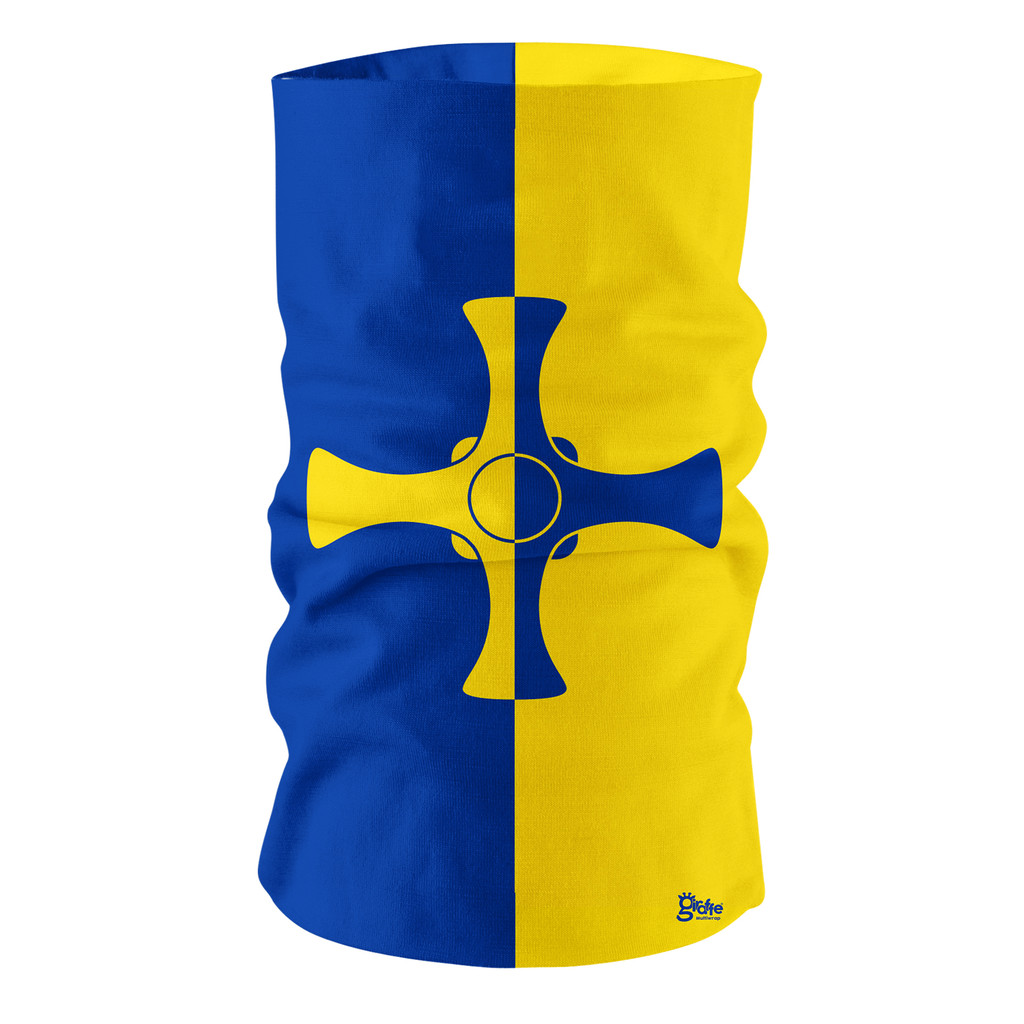 County Durham Lion Flag Full Bandana Face Protection Cover Multi-functional Headgear Tube scarf