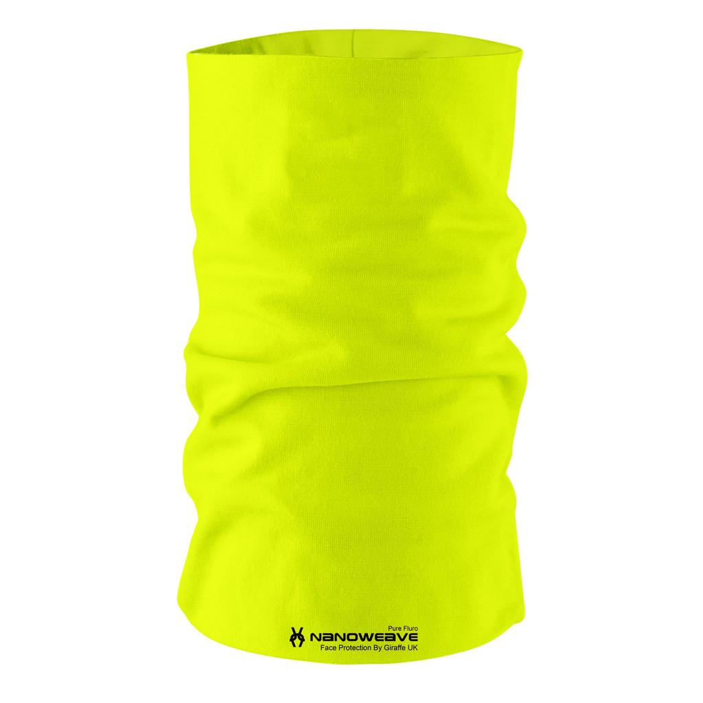 Nano Weave Pure Fluro Yellow  Multi-functional face protection. Seamless Tube Bandana