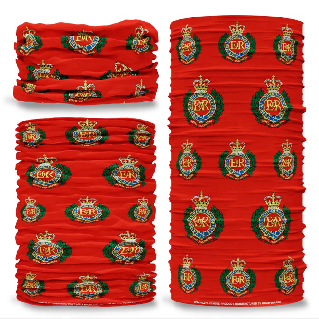 MOD Royal Engineers British Army  Red Multifunctional bandana headwear multiwrap snood