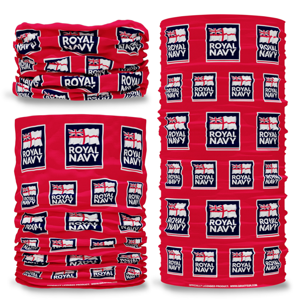 MOD British Royal Navy Logo red Multi-functional bandana headwear multiwrap snood