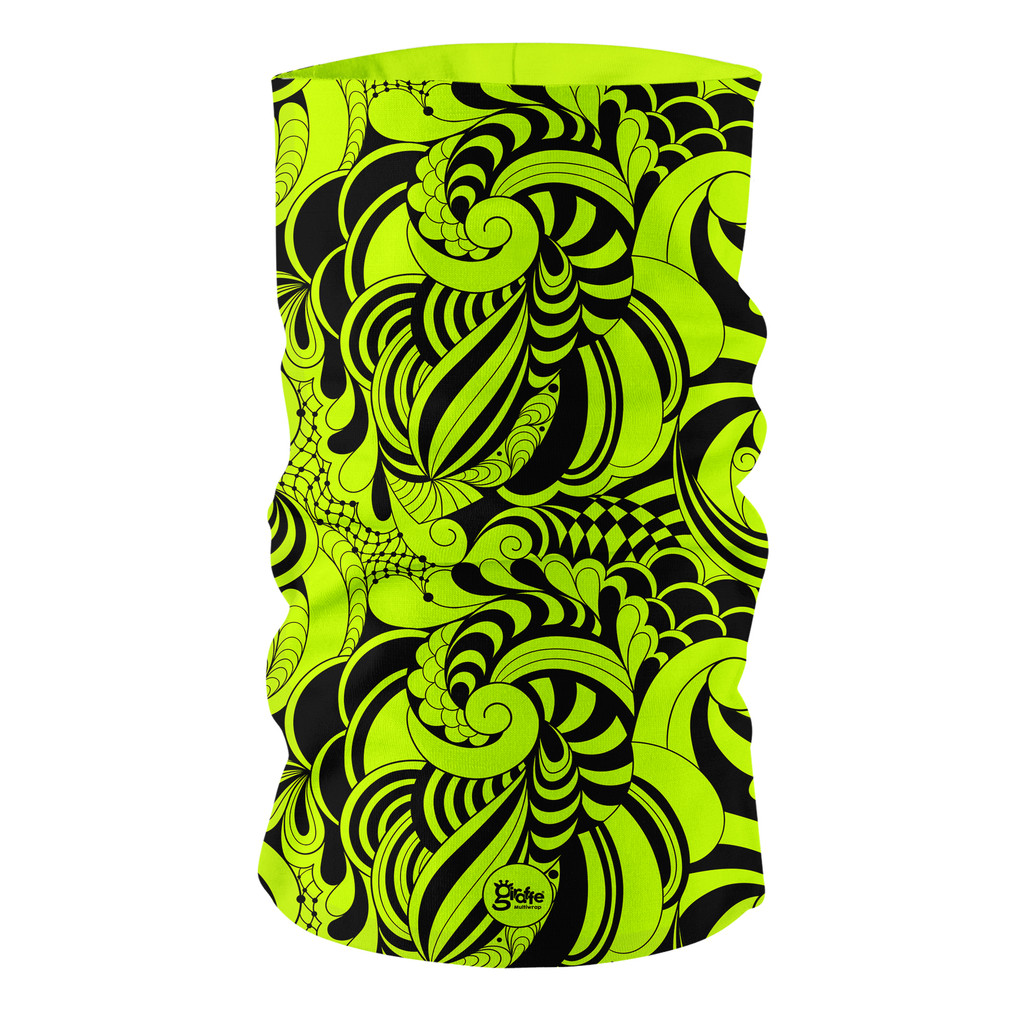 Fluro Neon Candy Twist GF10 Multi-functional bandana headwear multiwrap snood