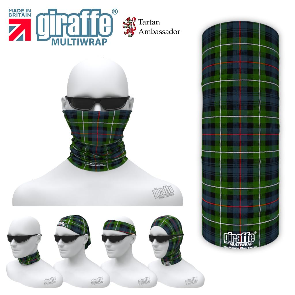 Mackenzie Clan Tartan Scotland Scottish Bandana snood Multi-functional  headwear ski bike run sport