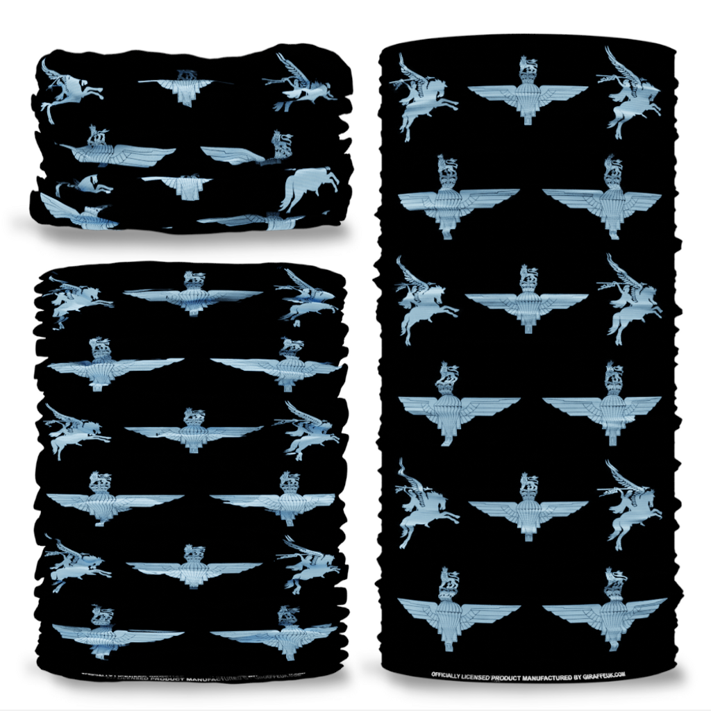MOD Parachute Regiment Pegasus Black British Army  Multi-functional bandana headwear multiwrap snood