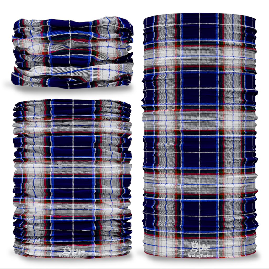 Arctic Tartan Scottish Clan Seamless Tube Bandana Snood Multifunctional multiwrap Giraffe headwear