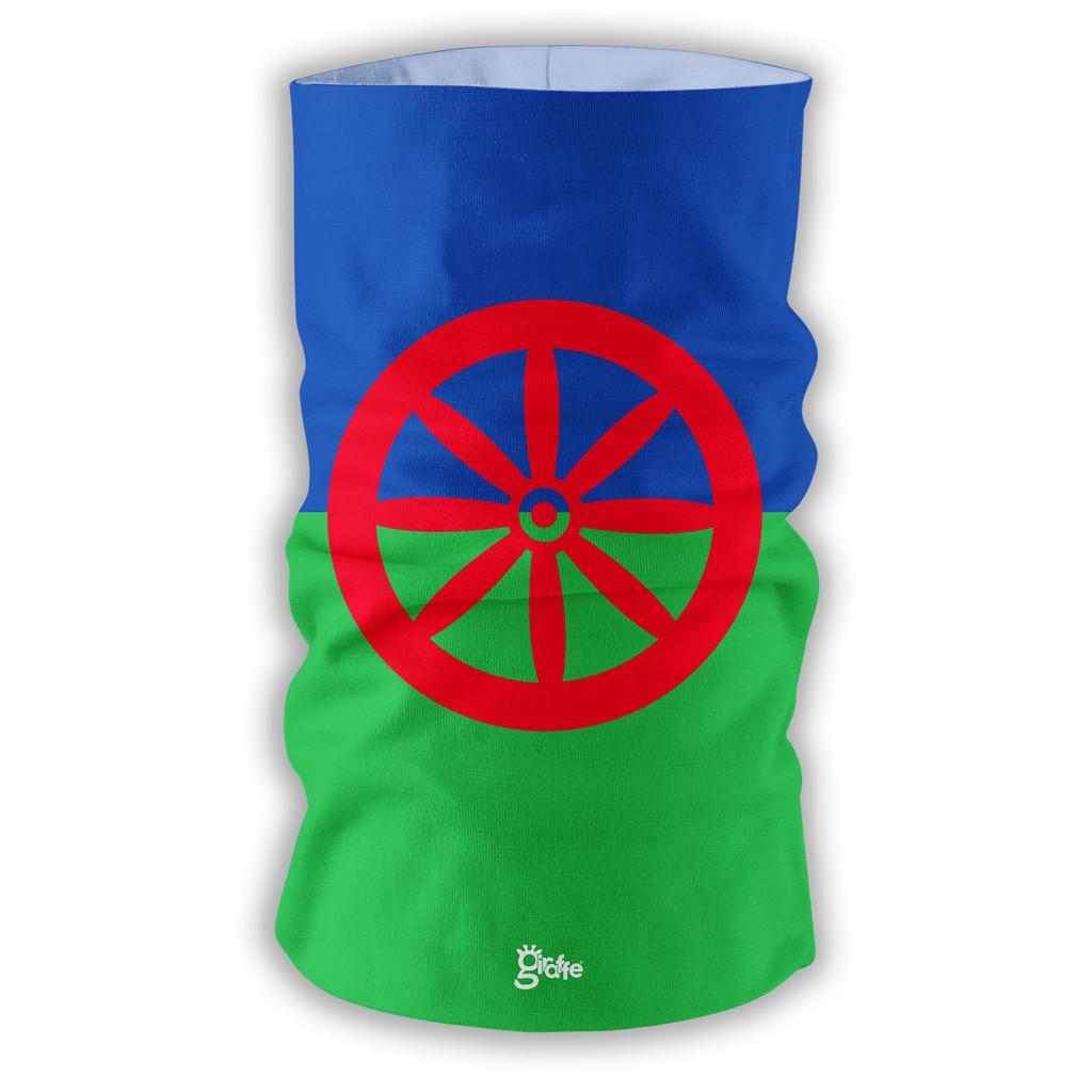 Roma Romani Traditional Flag Full Bandana Face Protection Cover Multi-functional Headgear Tube scarf