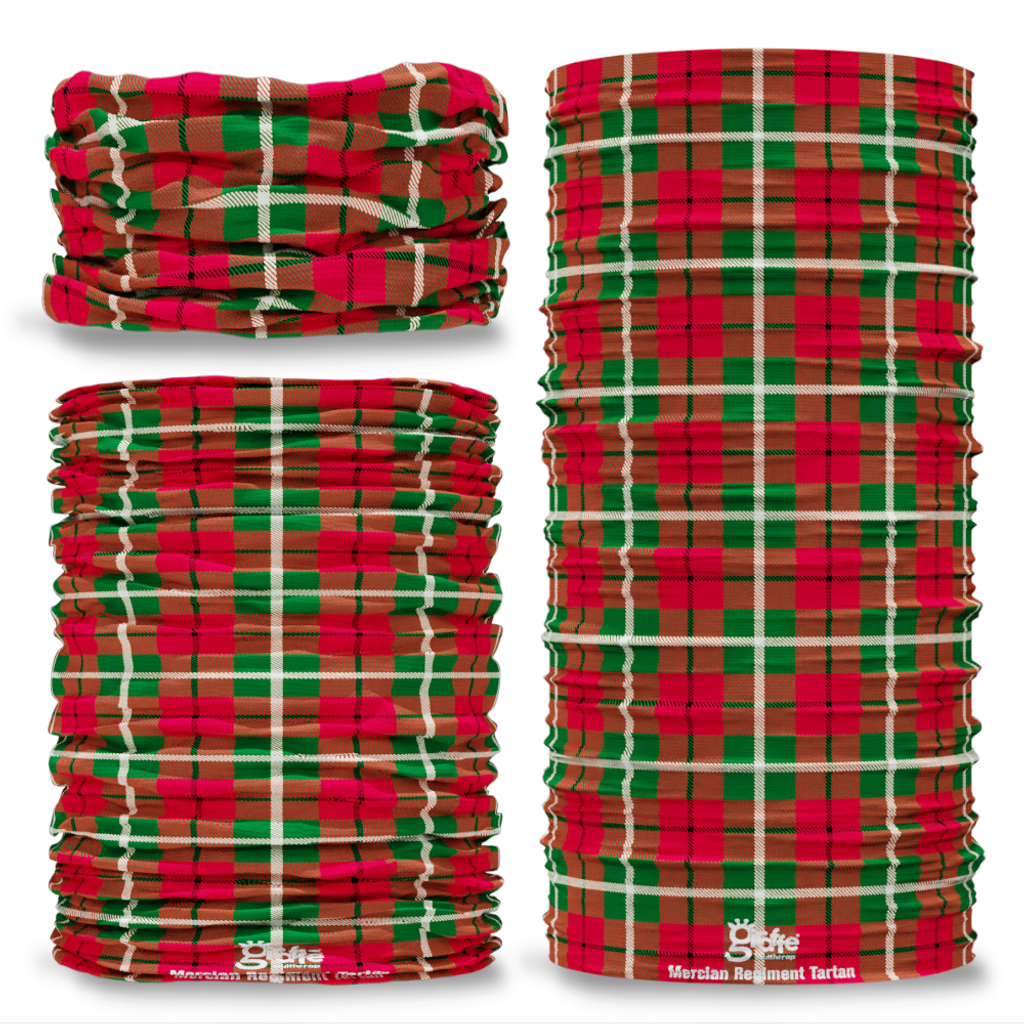 Mercian Regiment Tartan Seamless Tube Bandana Snood Multifunctional multiwrap Giraffe headwear