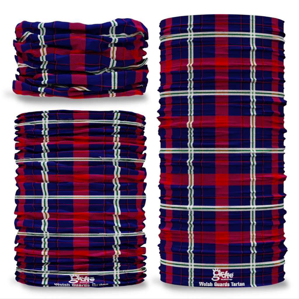 Welsh Guards Tartan Seamless Tube Bandana Snood Multifunctional multiwrap Giraffe headwear