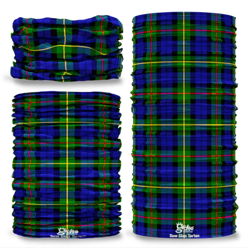 Gow Clan Scottish Tartan Seamless Tube Bandana Snood Multifunctional multiwrap Giraffe headwear