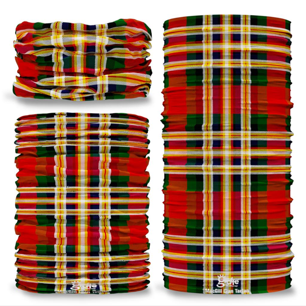 MacGill Clan Scottish Tartan Seamless Tube Bandana Snood Multifunctional multiwrap Giraffe headwear