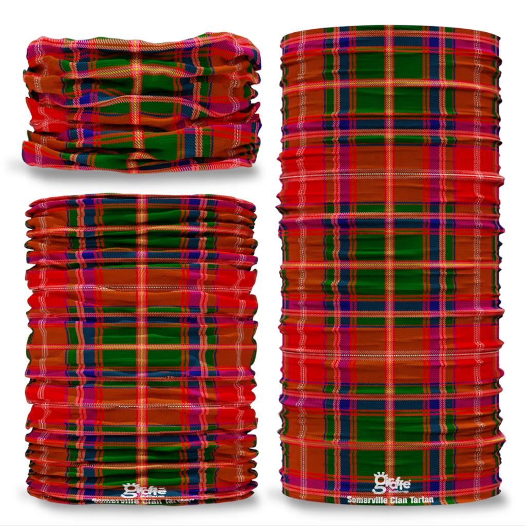 Somerville Tartan Scottish Clan Tartan Seamless Tube Bandana Snood Multifunctional multiwrap Giraffe headwear