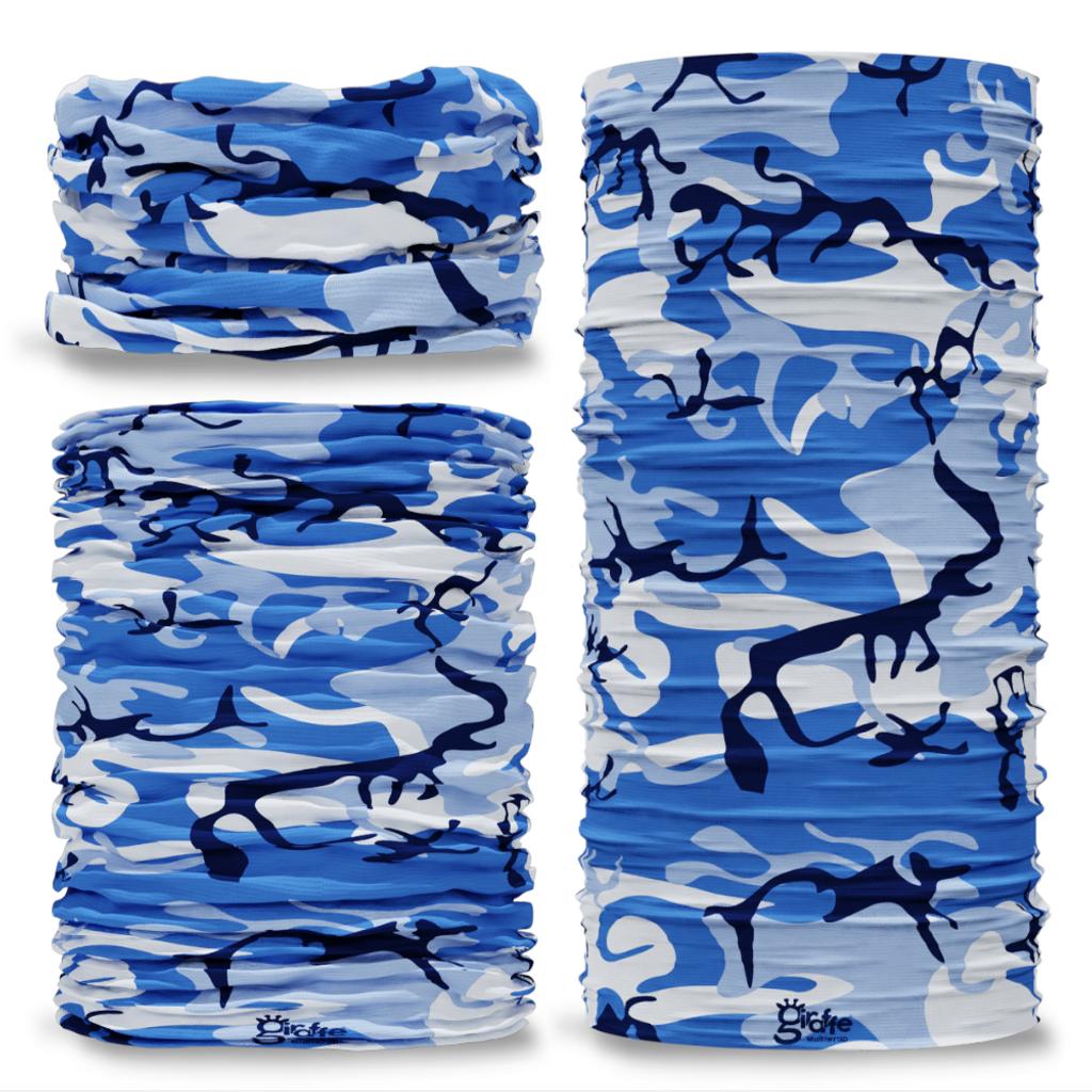 G-215 Camouflage Blues urban Seamless Tube Bandana Snood Multifunctional multiwrap Giraffe headwear