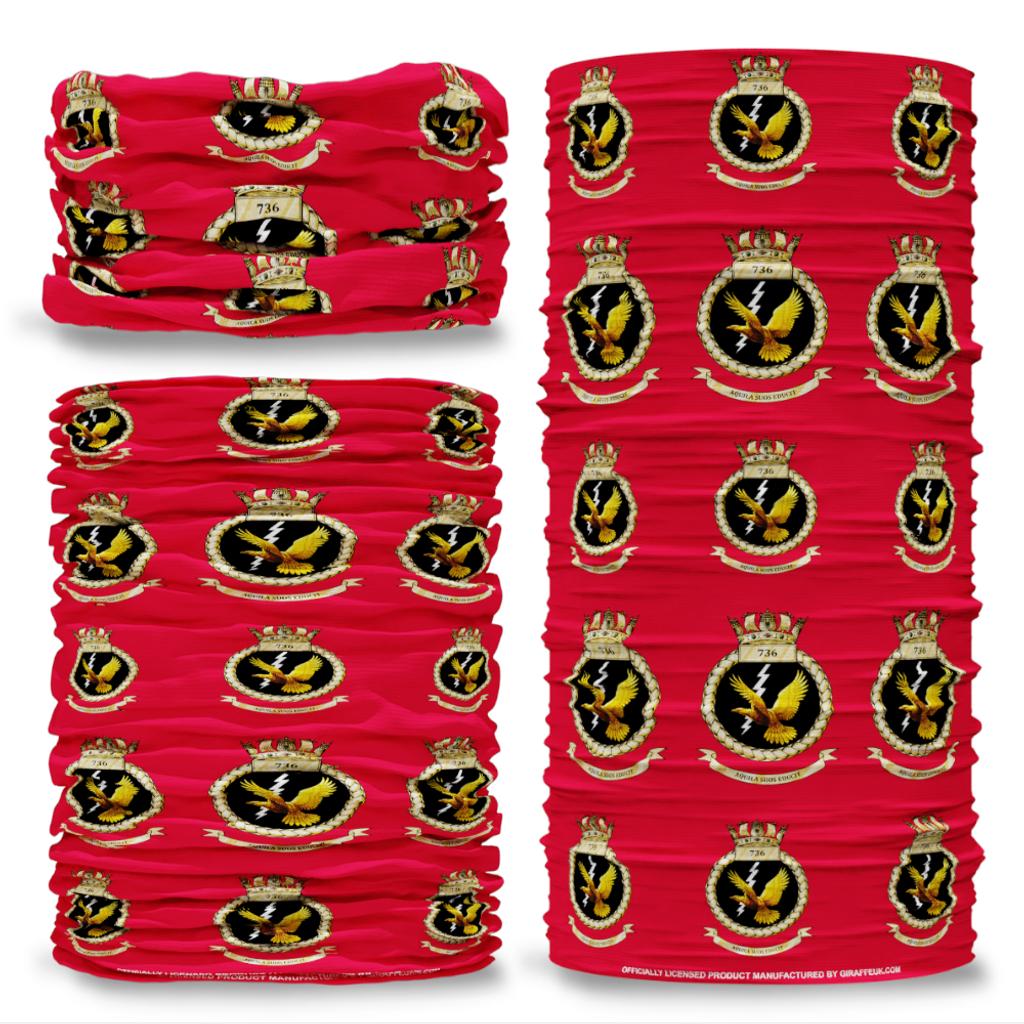 MOD 736 Naval Air Squadron Royal Red Blue Multi-functional bandana headwear multiwrap snood