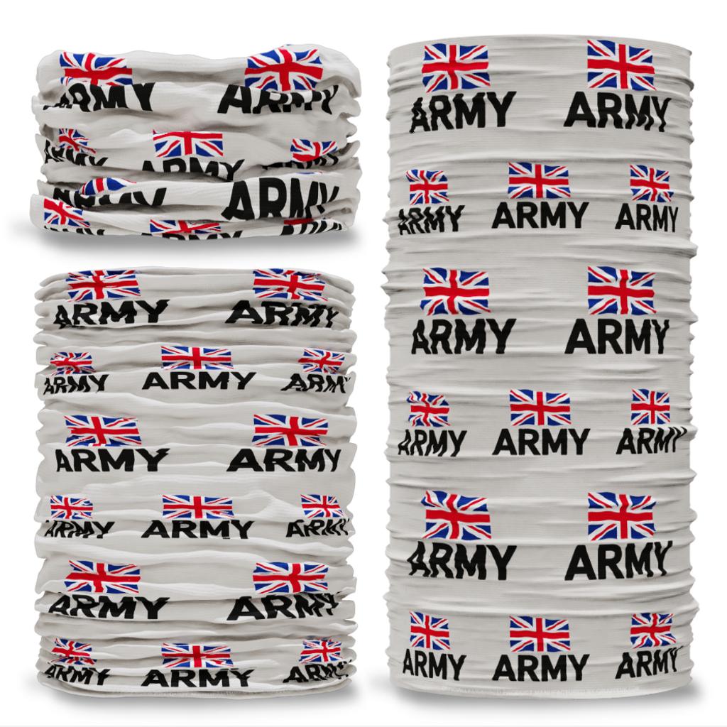 MOD British Army Emblem Grey Multifunctional bandana headwear multiwrap snood