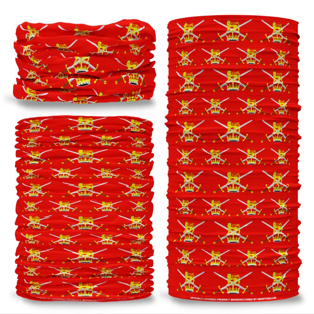 MOD British Army Emblem crest Lion Sword Red Multifunctional bandana headwear multiwrap snood