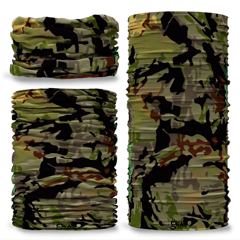 GCAM-6 Camo Swamp reversible plain green inside camouflage Multi-functional bandana headwear multiwrap snood
