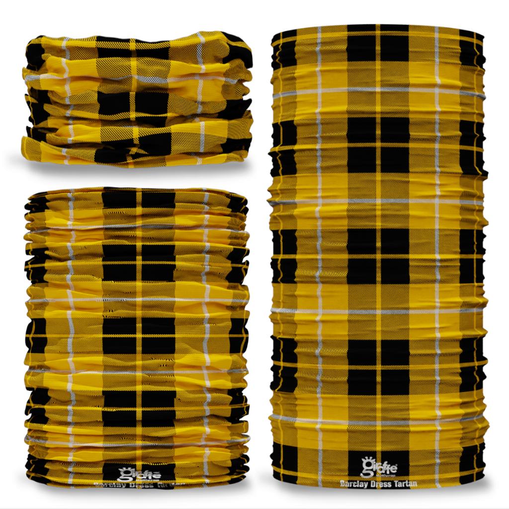 Barclay Dress Tartan Scottish Scotland Seamless Tube Bandana Snood Multifunctional multiwrap Giraffe headwear