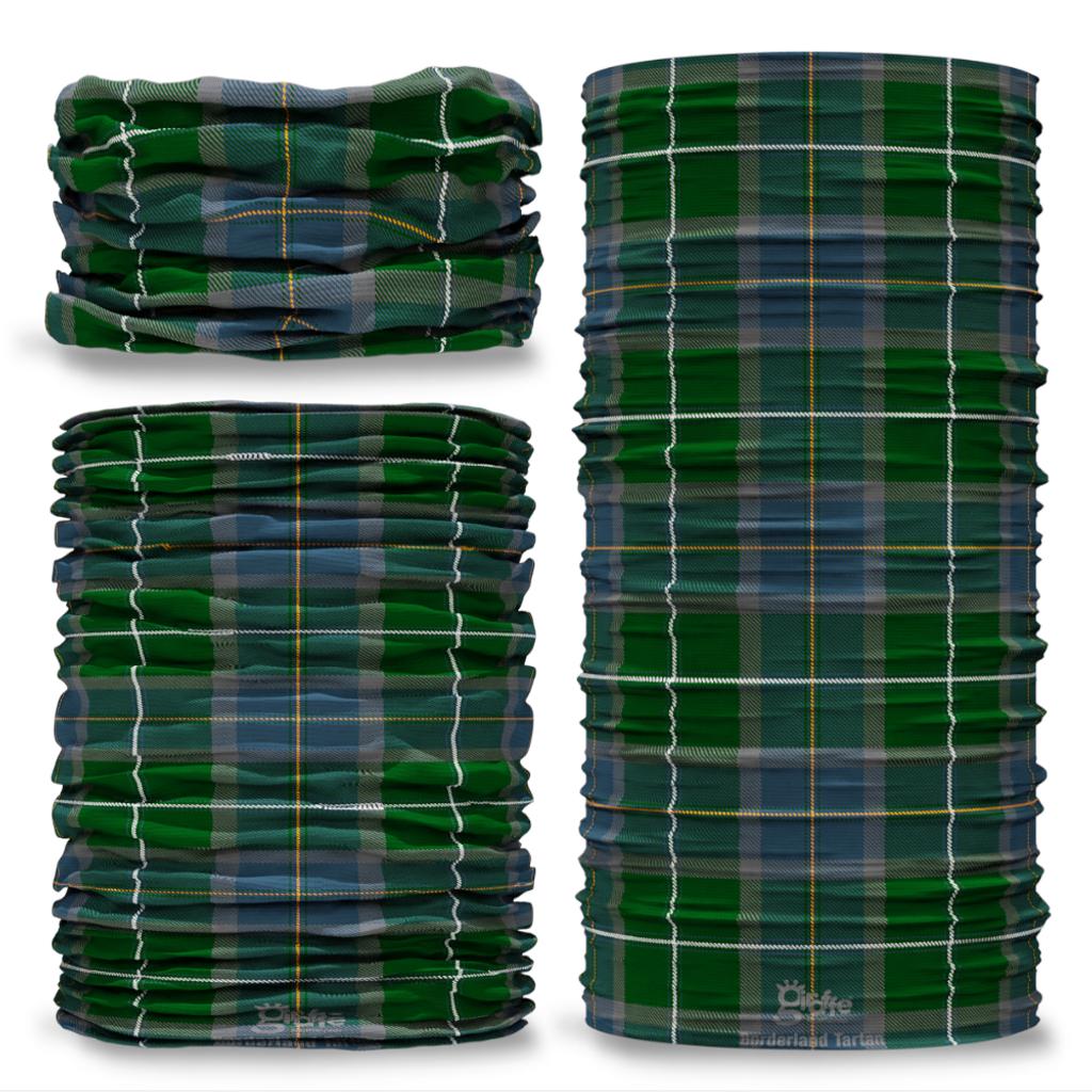 Borderland Clan Tartan Scottish Scotland Seamless Tube Bandana Snood Multifunctional multiwrap Giraffe headwear