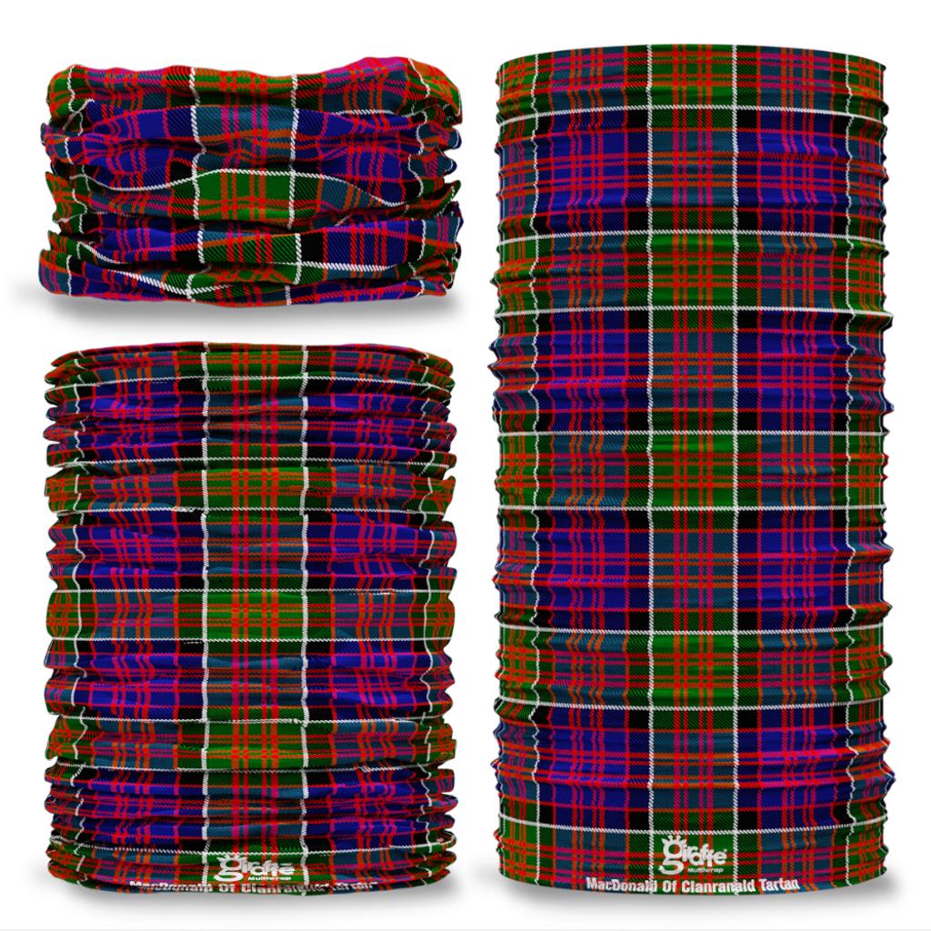 MacDonald of Clanranald Tartan Scottish Scotland Seamless Tube Bandana Snood Multifunctional multiwrap Giraffe headwear