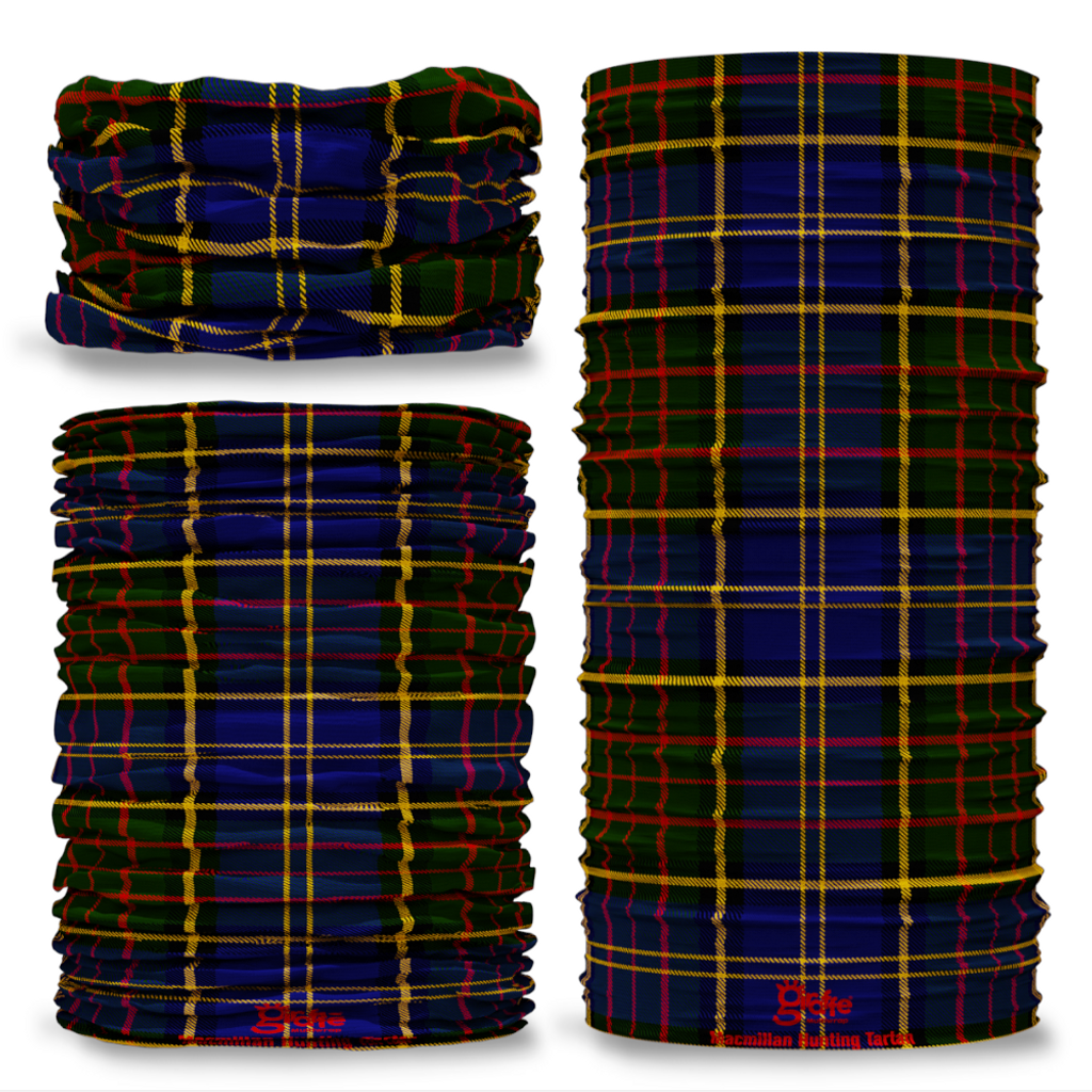 Macmillan Hunting Tartan Scottish Scotland Seamless Tube Bandana Snood Multifunctional multiwrap Giraffe headwear