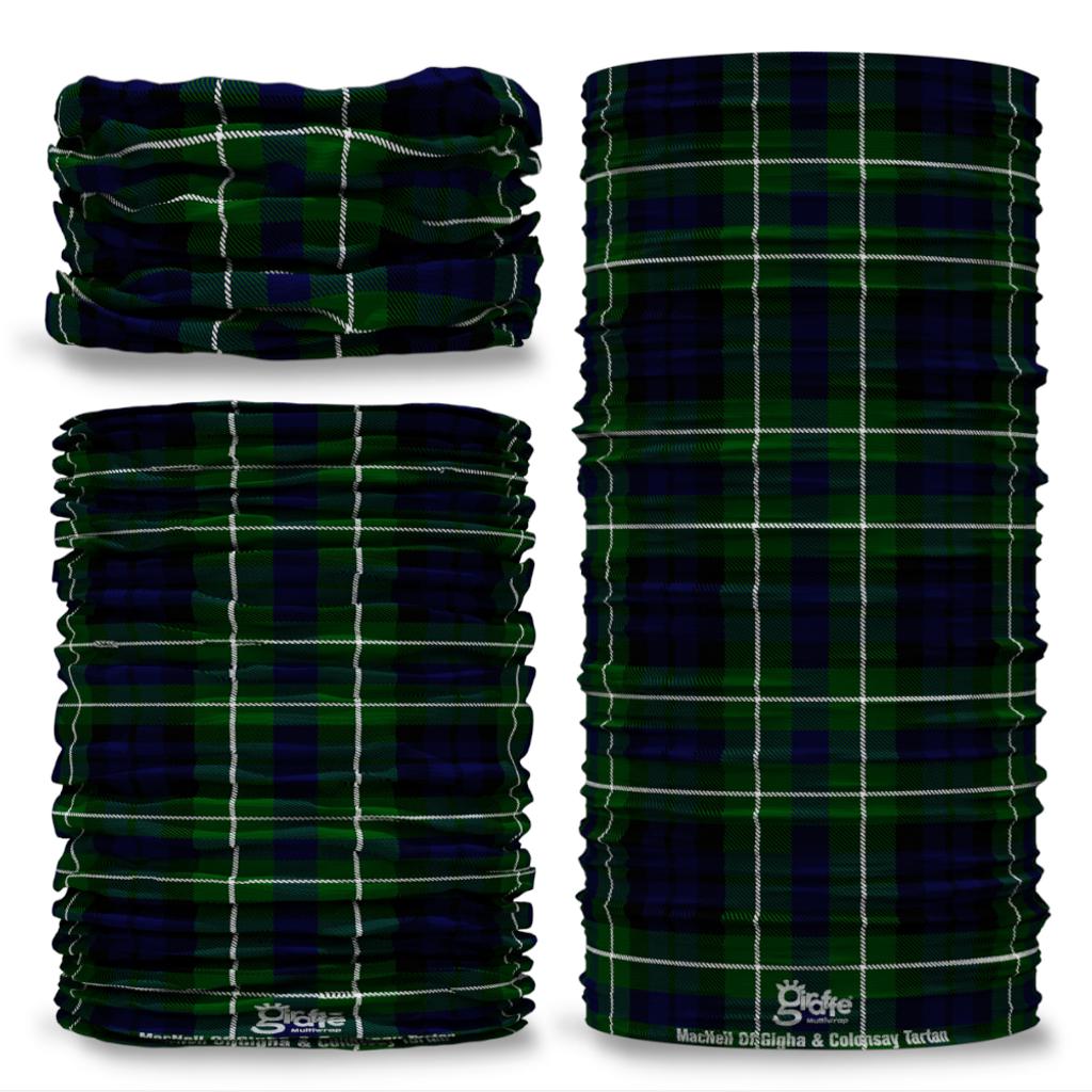 MacNeil of Gigha & Colonsay Tartan Scottish Scotland Seamless Tube Bandana Snood Multifunctional multiwrap Giraffe headwear