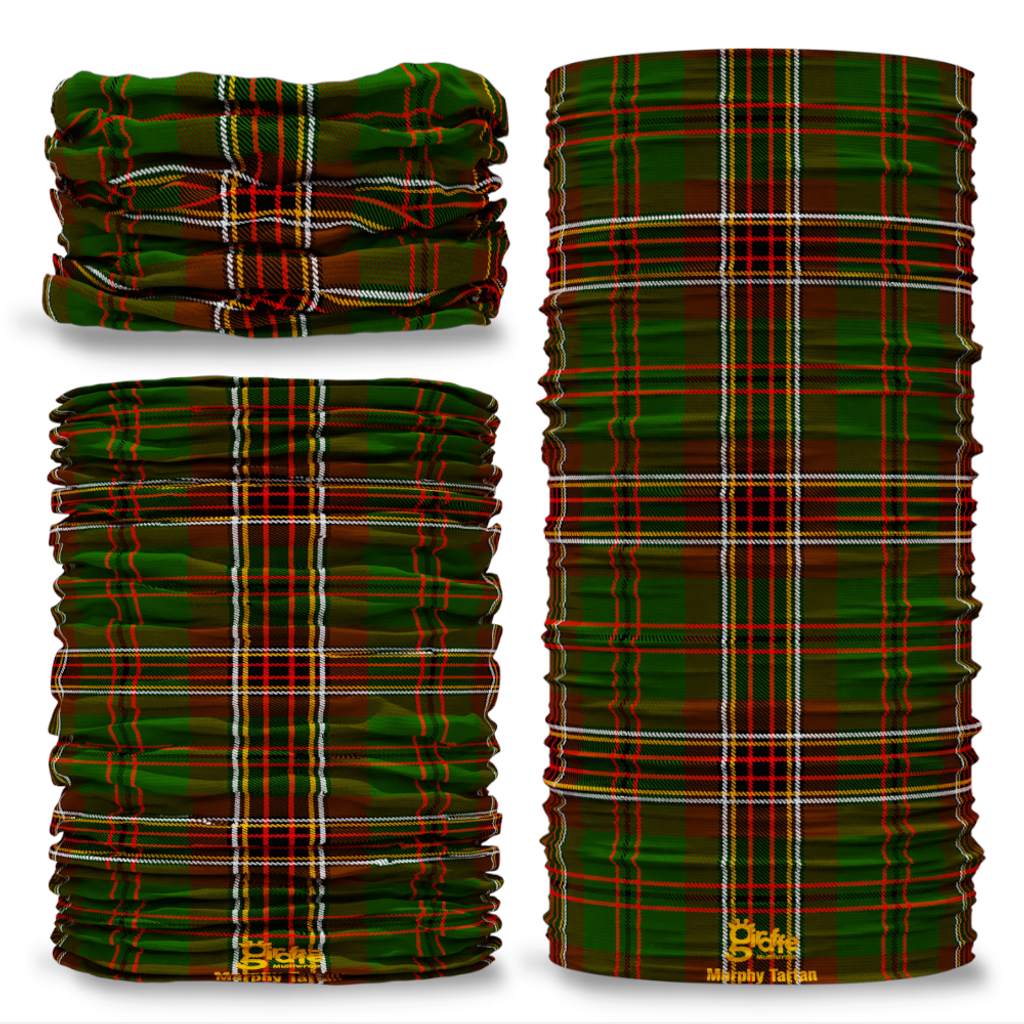 Murphy Tartan Scottish Scotland Seamless Tube Bandana Snood Multifunctional multiwrap Giraffe headwear