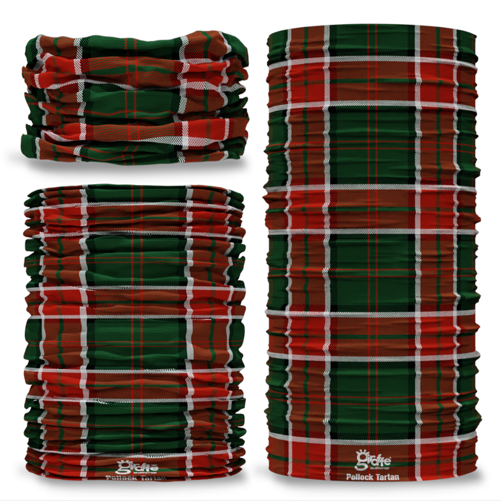 Pollock Tartan Scottish Scotland Seamless Tube Bandana Snood Multifunctional multiwrap Giraffe headwear