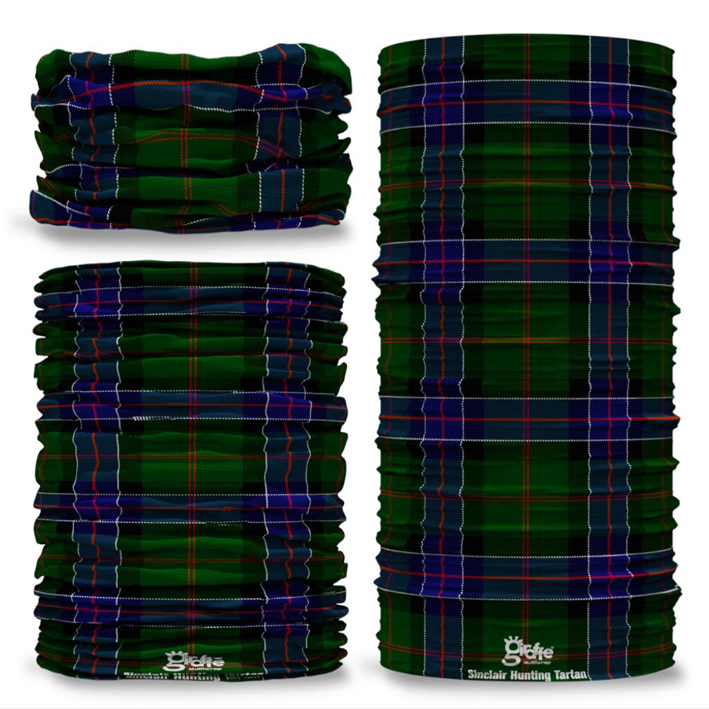 Sinclair Hunting Tartan Scottish Scotland Seamless Tube Bandana Snood Multifunctional multiwrap Giraffe headwear