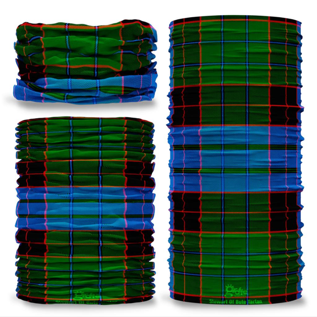 Stewart of Bute Tartan Scottish Scotland Seamless Tube Bandana Snood Multifunctional multiwrap Giraffe headwear