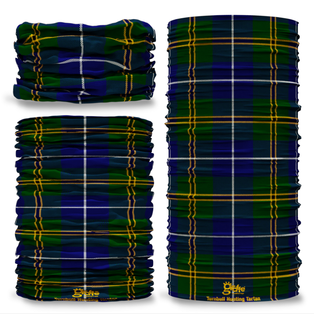 Turnbull Hunting Tartan Scottish Scotland Seamless Tube Bandana Snood Multifunctional multiwrap Giraffe headwear