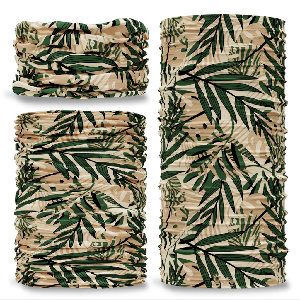 G-750 Gardening Green Beige Seamless Tube Bandana Snood Multifunctional multiwrap Giraffe headwear