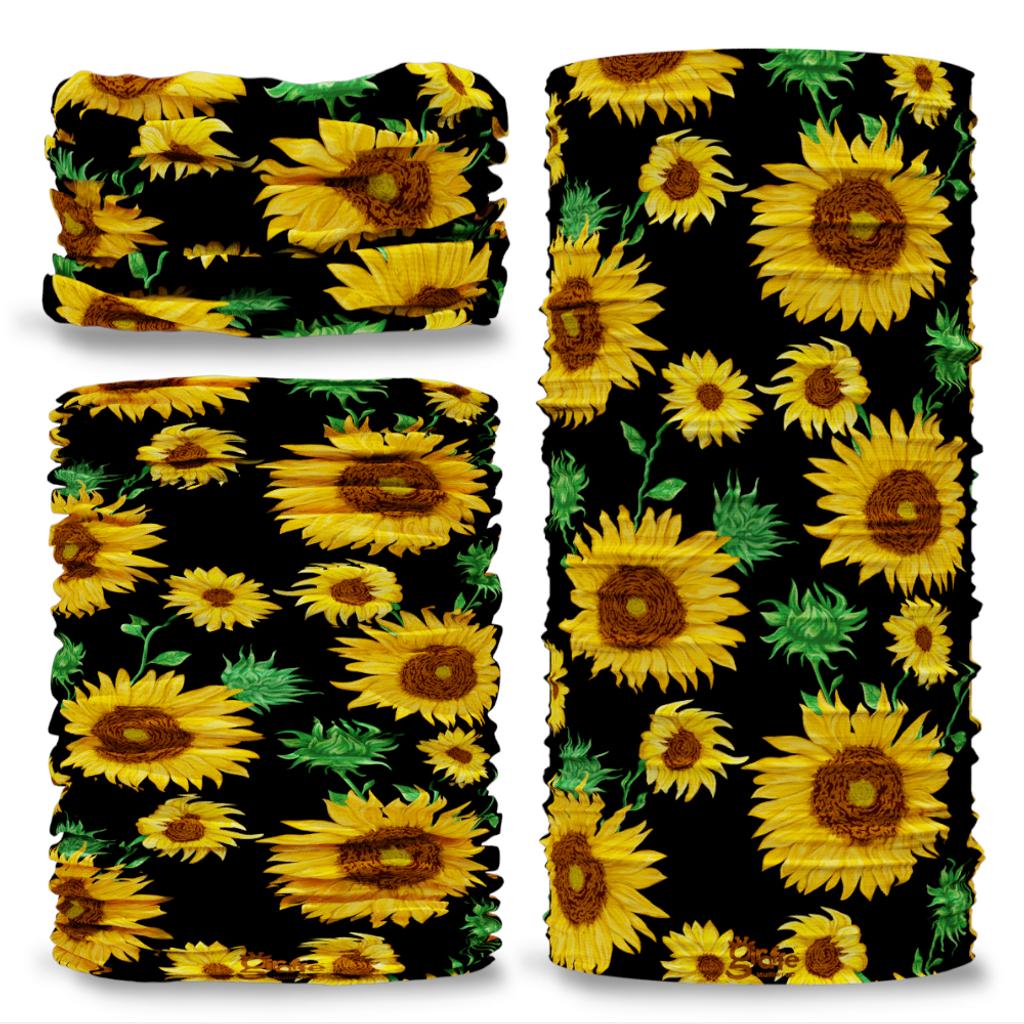 G-756 Gardening Sunflower Large Tube Bandana Snood Multifunctional multiwrap Giraffe headwear