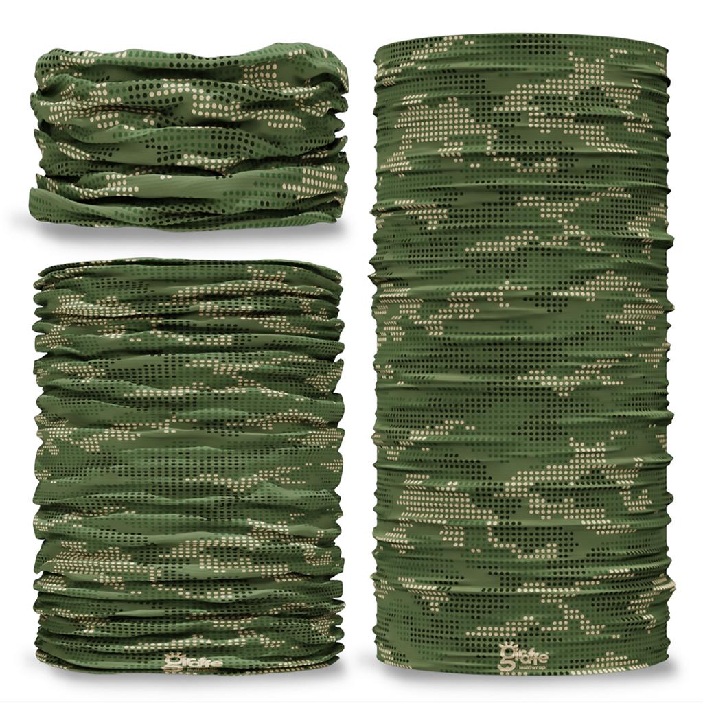 G-770 Digital Green Camo Tube Bandana Snood Multifunctional multiwrap Giraffe headwear
