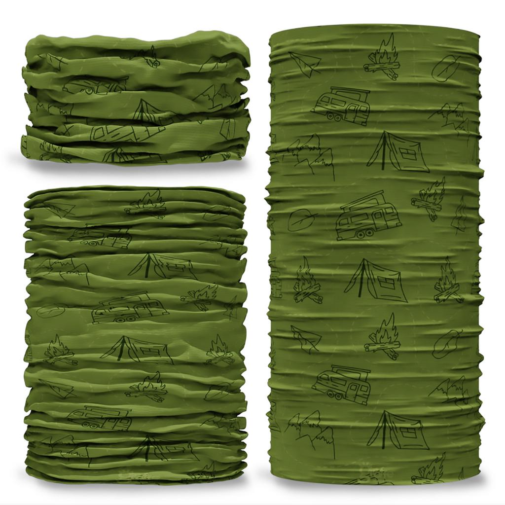 G-777 Camping Tents Green Tube Bandana Snood Multifunctional multiwrap Giraffe headwear