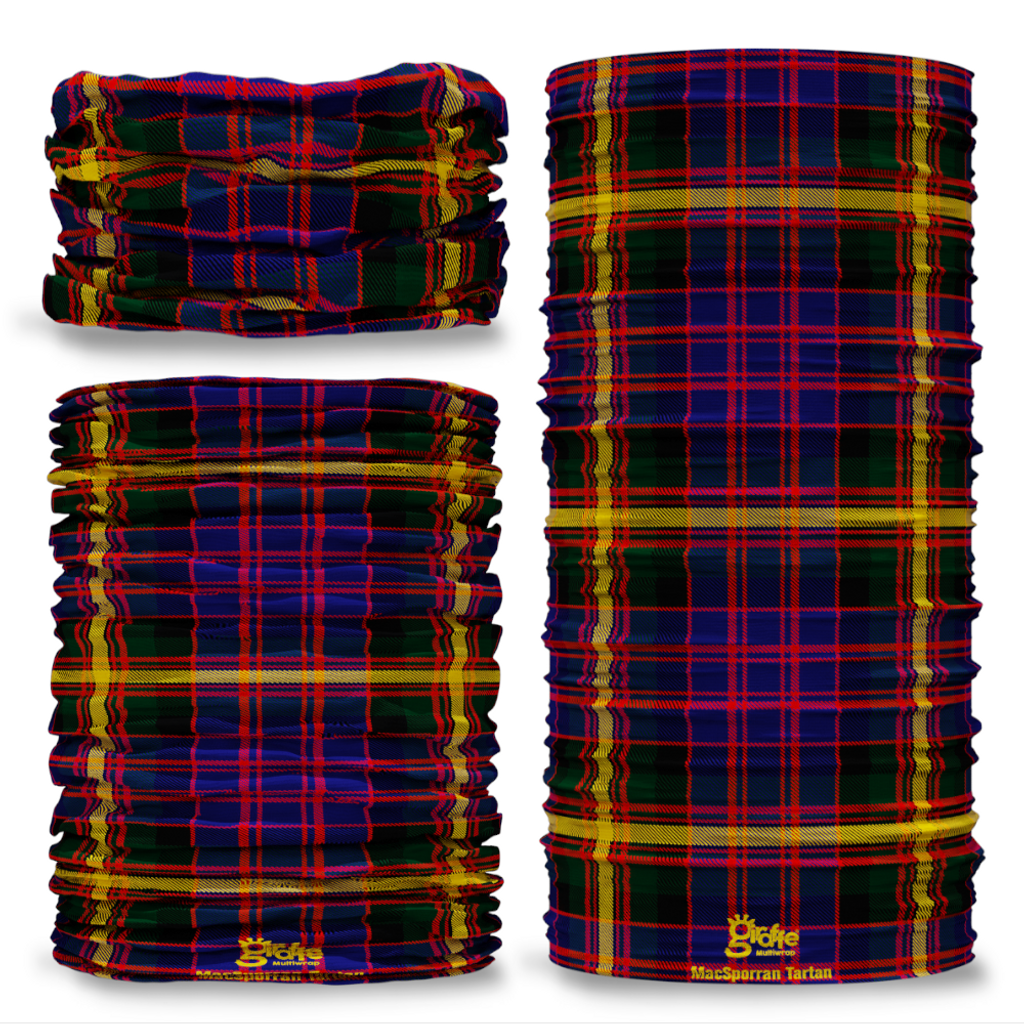 MacSporran Tartan Scottish Clan Seamless Tube Bandana Snood Multifunctional multiwrap Giraffe headwear
