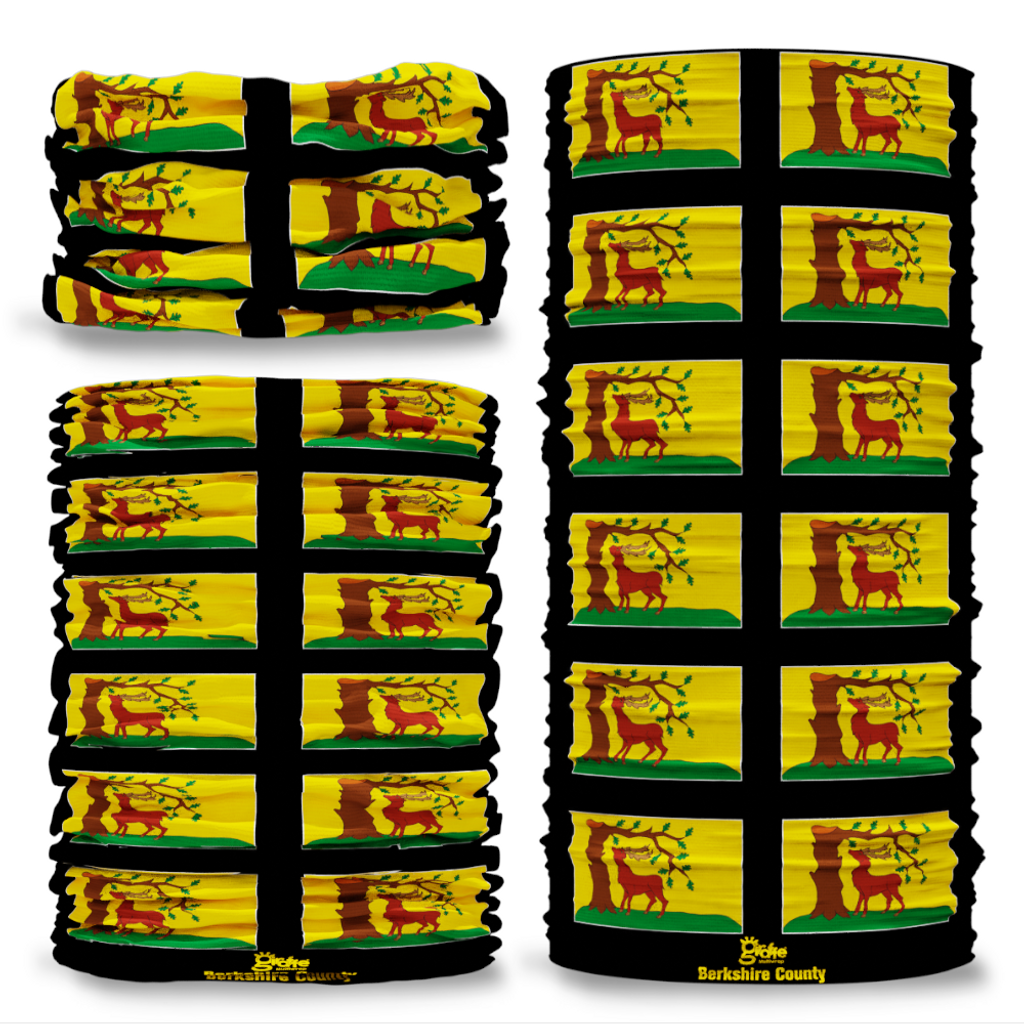 Berkshire County Flag Tube Bandana Snood Multifunctional multiwrap Giraffe headwear