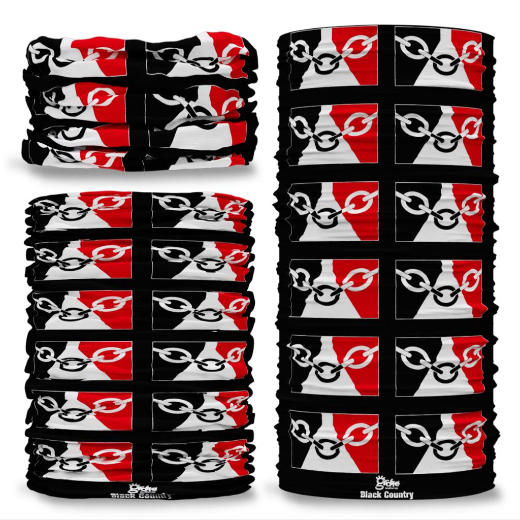 Black Country County Flag Tube Bandana Snood Multifunctional multiwrap Giraffe headwear