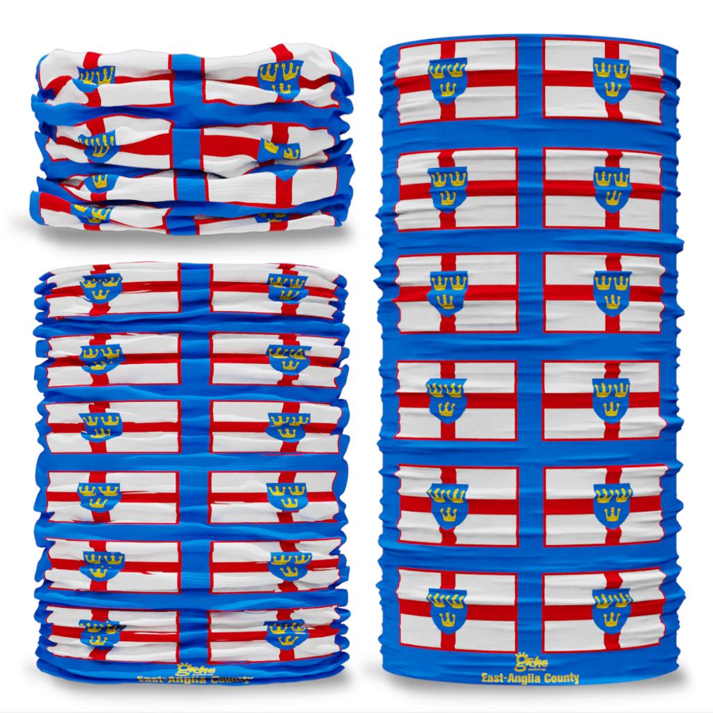 East Anglia County Flag Tube Bandana Snood Multifunctional multiwrap Giraffe headwear