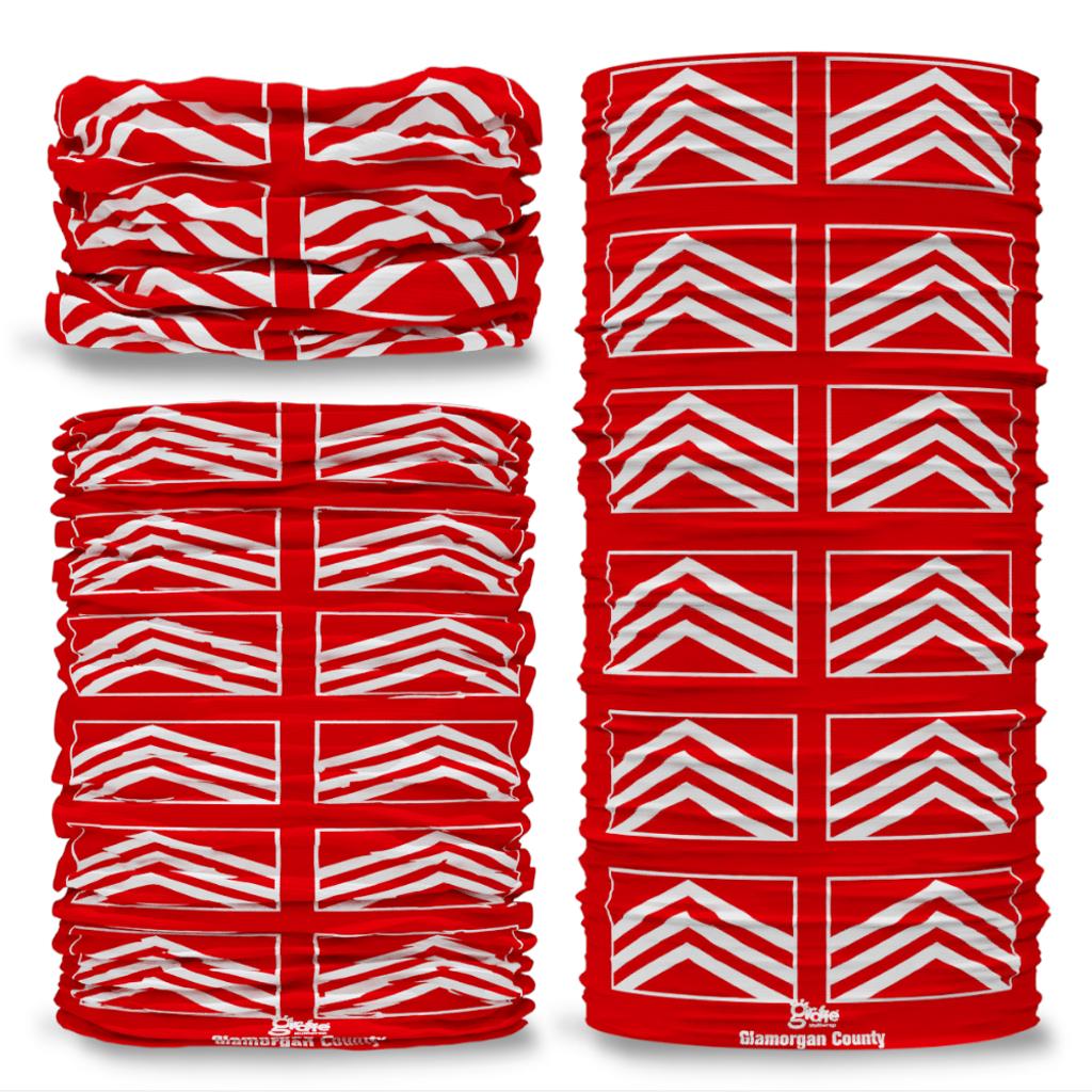 Glamorgan County Flag Tube Bandana Snood Multifunctional multiwrap Giraffe headwear