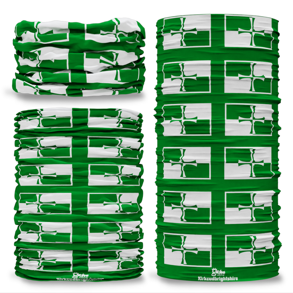 Kirkcudbrightshire County Flag Tube Bandana Snood Multifunctional multiwrap Giraffe headwear