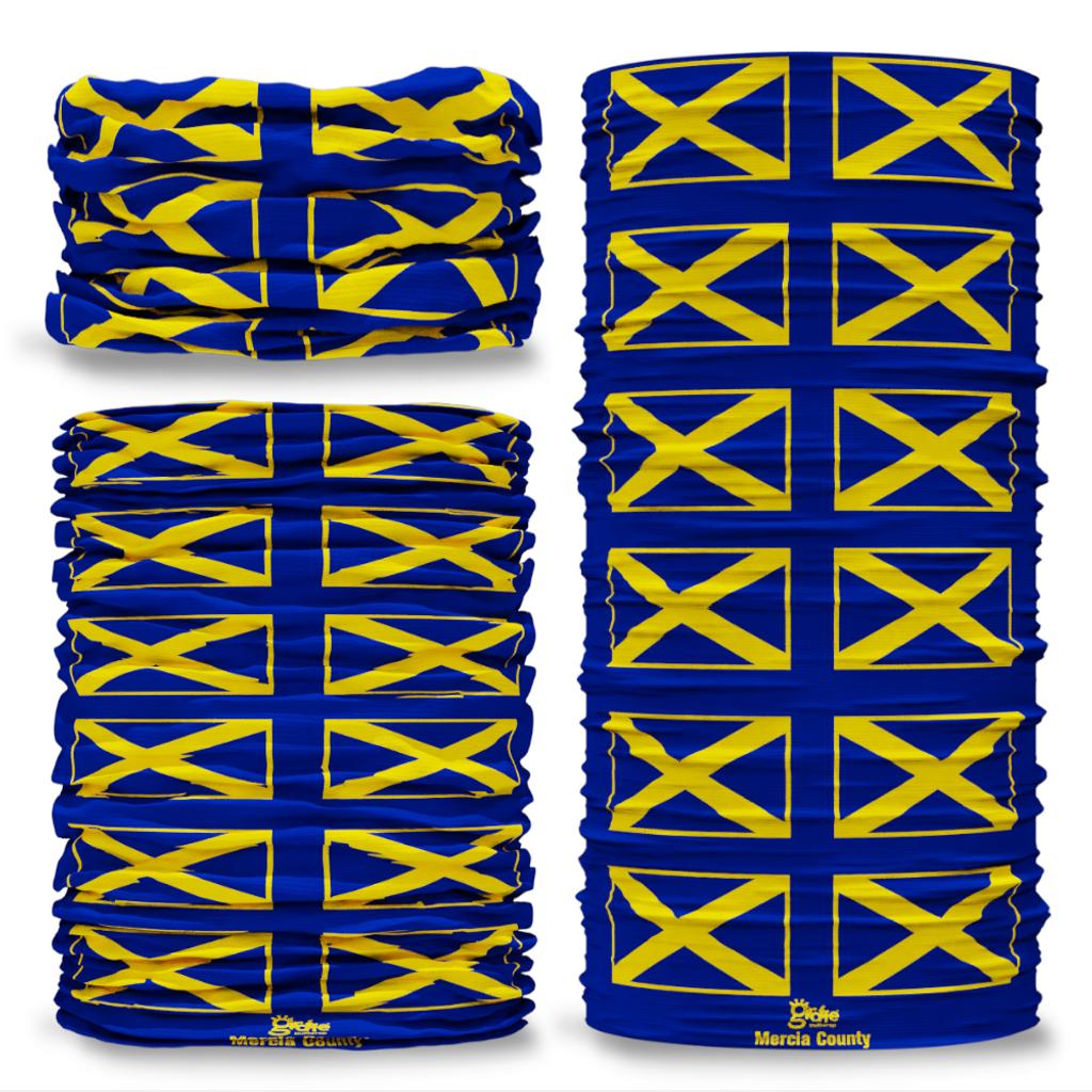 Mercia County Flag Tube Bandana Snood Multifunctional multiwrap Giraffe headwear