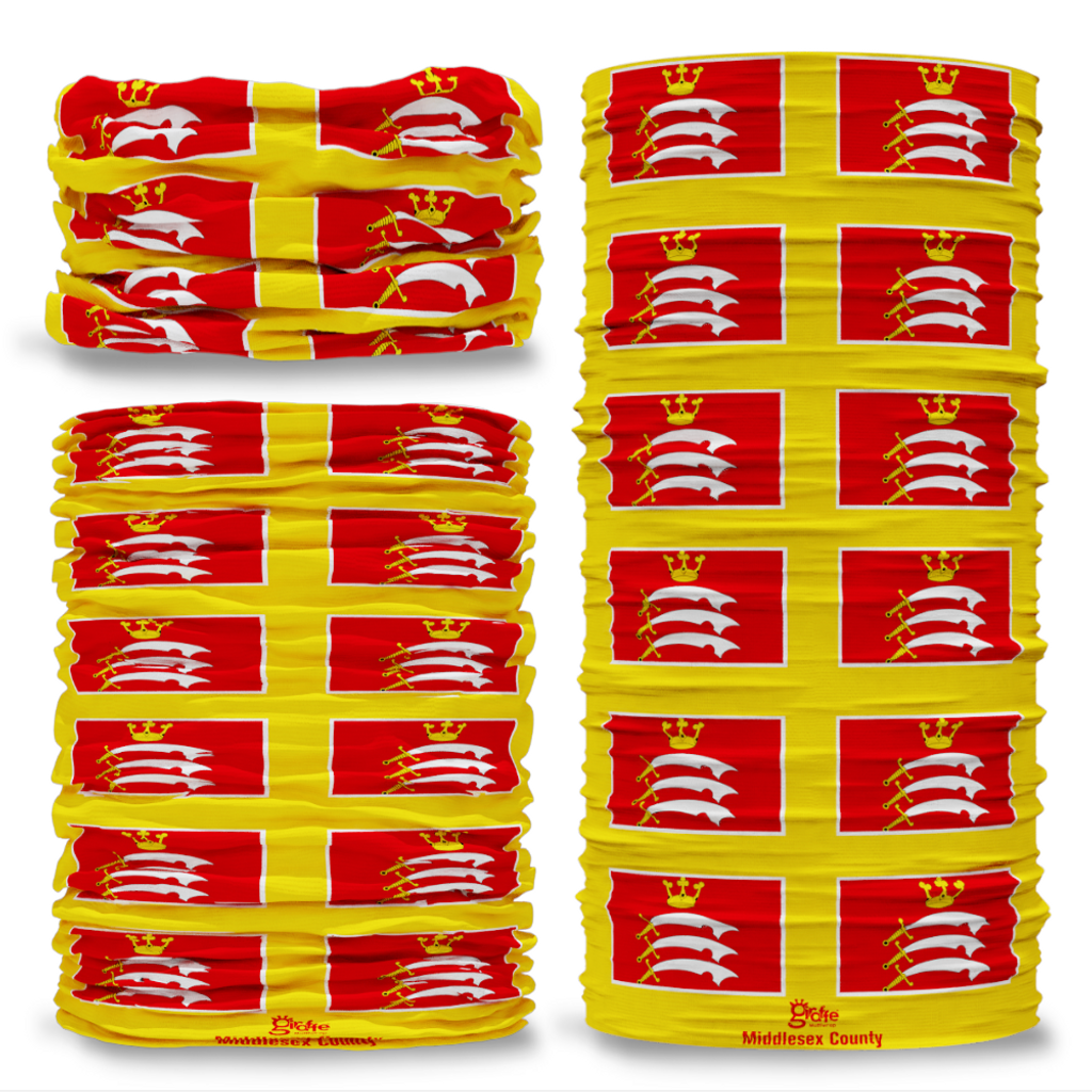Middlesex County Flag Tube Bandana Snood Multifunctional multiwrap Giraffe headwear