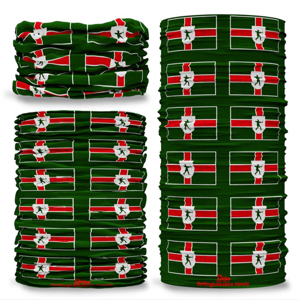 Nottinghamshire County Flag Tube Bandana Snood Multifunctional multiwrap Giraffe headwear