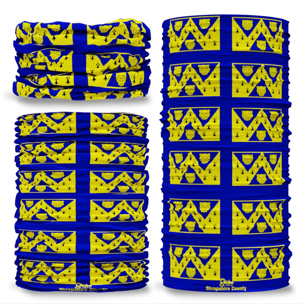 Shropshire County Flag Tube Bandana Snood Multifunctional multiwrap Giraffe headwear