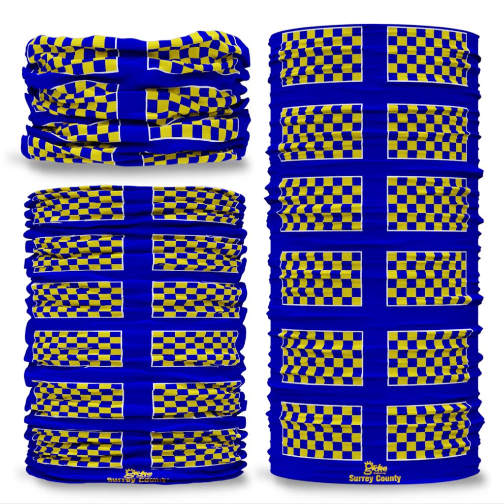 Surrey County Flag Tube Bandana Snood Multifunctional multiwrap Giraffe headwear