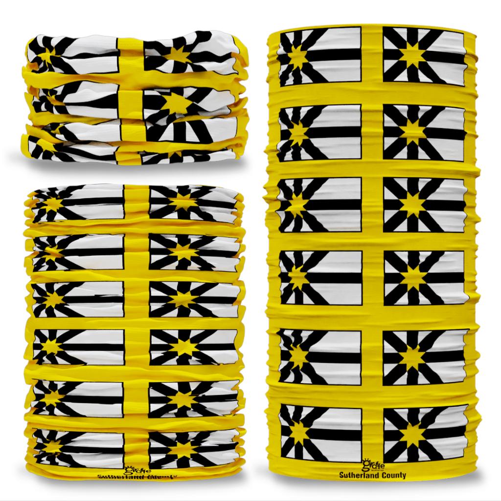 Sutherland County Flag Tube Bandana Snood Multifunctional multiwrap Giraffe headwear
