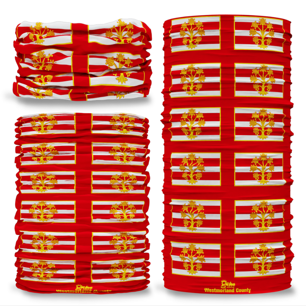 Westmorland County Flag Tube Bandana Snood Multifunctional multiwrap Giraffe headwear